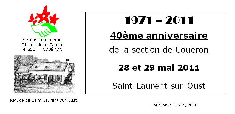 2011 St Laurent sur Oust 40 ans