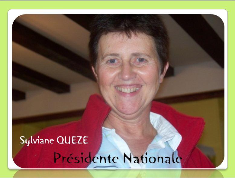 Sylviane Quèze, présidente nationale  de l'Union Touristique des Amis de la Nature.
