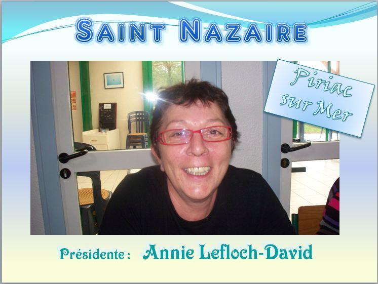 Présidente Annie Lefloch-David. A N. GO. ST Nazaire