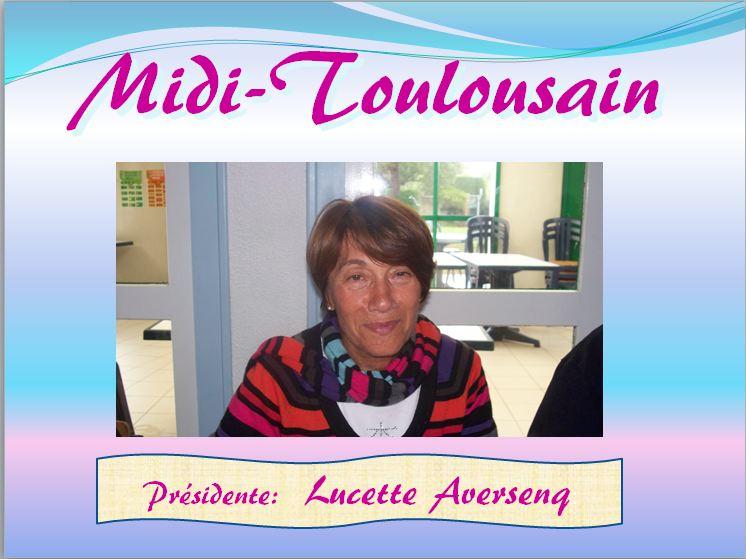 Présidente Lucette Averseng. A N. GO. Midi-Toulousain