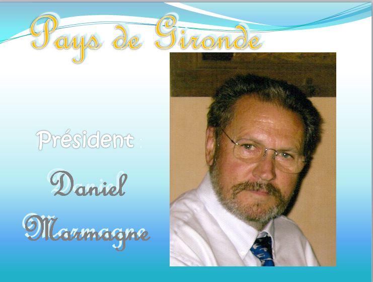 Présidente Daniel Marmagne. A N. GO. Pays de Gironde