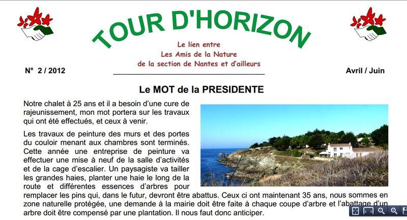 Tour d' Horizon n° 2 Section de Nantes