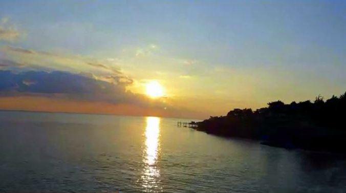 Coucher de soleil à Préfailles. UTAN