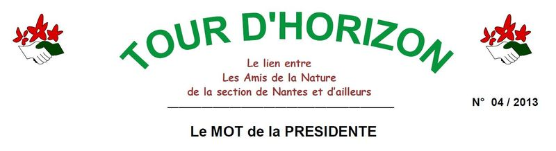 Tour d'Horrizon N° 04 2013