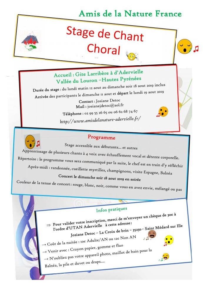 Stage de Chant Choral